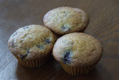 Muffins framboises-chocolat blanc