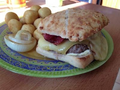 Hamburger façon raclette