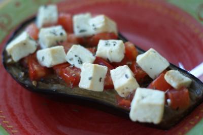 Aubergine tomate-fêta