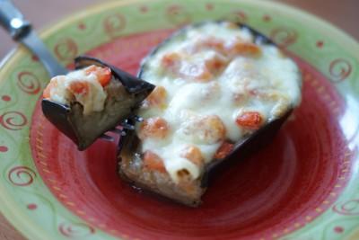 Aubergine tomate-mozzarella
