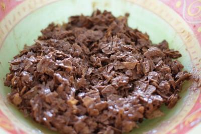 Gavottes émiettées au chocolat/praliné