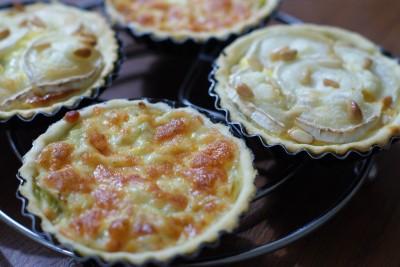 Tartelettes poireau-fromage