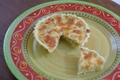 Tartelette poireau-mozzarella