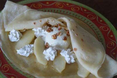 Crêpe pomme-vanille