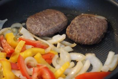 Wrap burger, cuisson