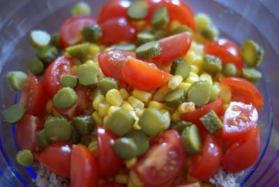 Préparation de légumes.